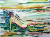 Nude in Field by Debby Bloom